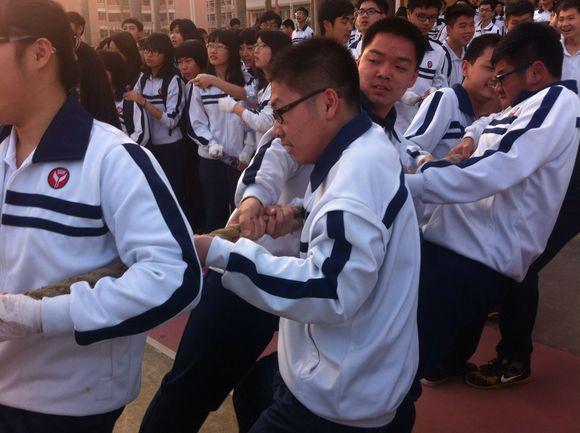 【百中】拔河比赛直播_潮阳林百欣中学吧_百度贴吧图片