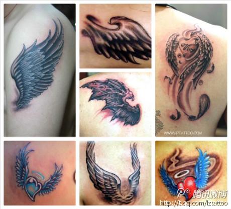 象征自由自在的蝴蝶纹身图案的代表性图片