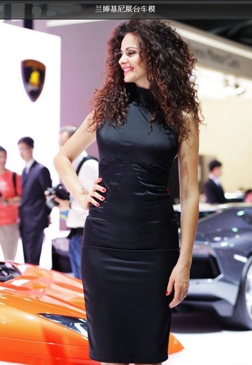 转帖, 2011年上海车展兰兰的车模 兰博基尼吧 百度贴吧高清图片