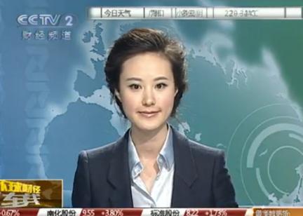 中央电视台二套,最漂亮的女主持人,看着也是最 ...