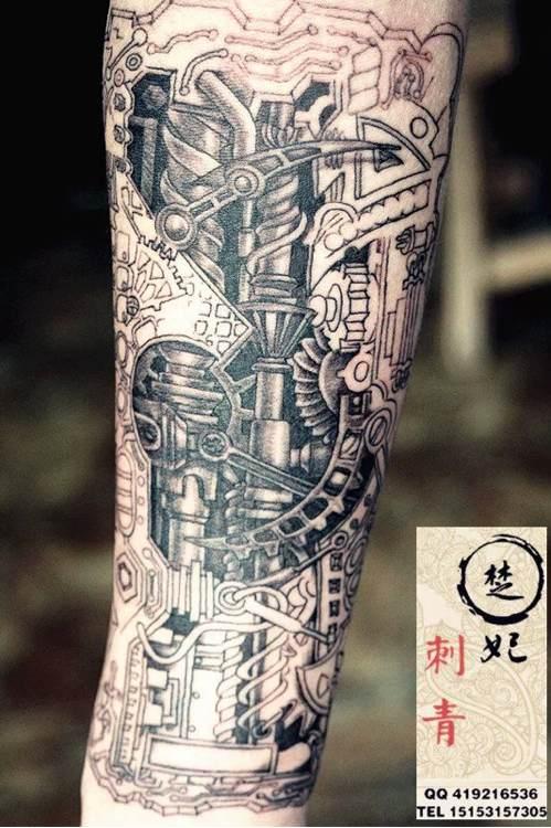 纹身四天了,开始蜕皮的时候手麻图片