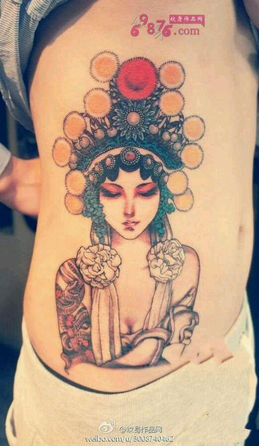 一些花旦素材._喜欢纹身吧图片