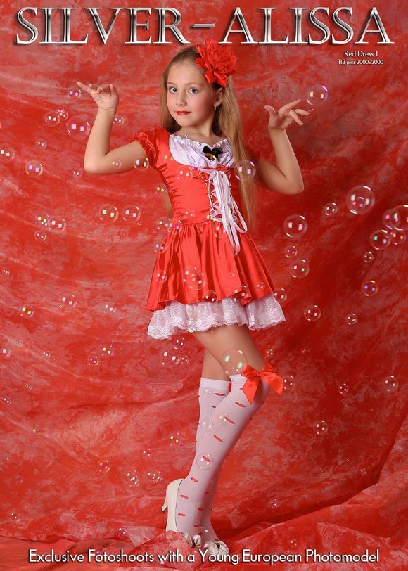 Silver stars alissa red dress 1 candydoll