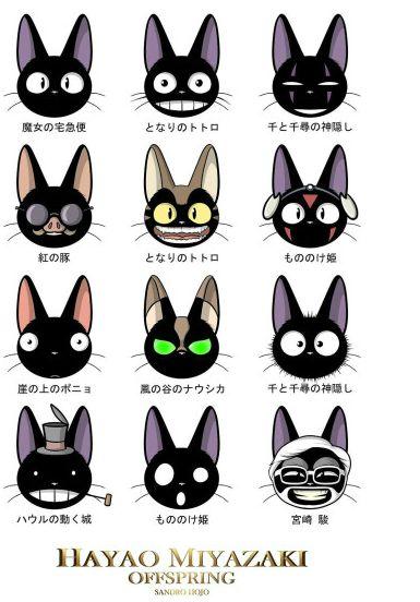 黑猫吉吉的表情~(@^_^@)图片