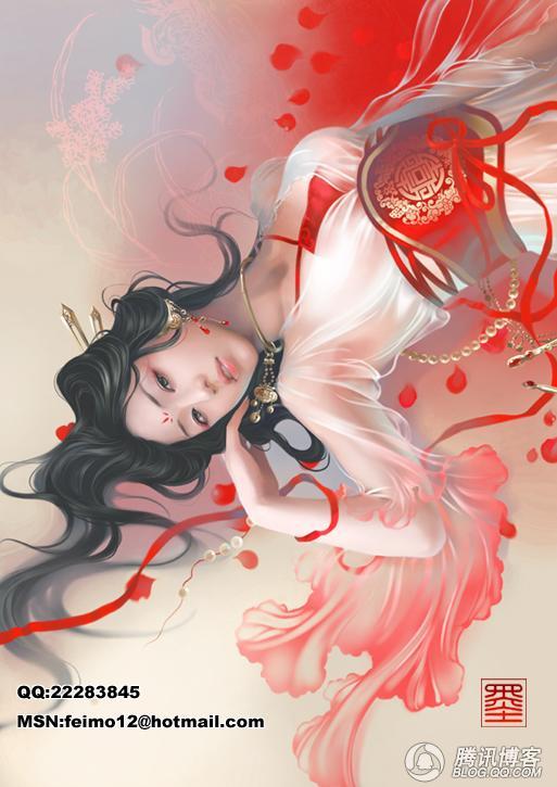 【手绘古装】【求图】红衣女子