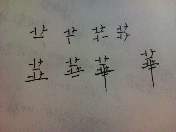 华 字的笔画顺序 醉梦江湖吧
