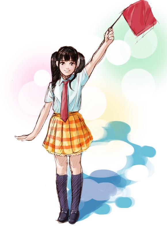 日本美少女组合akb48的漫画风 头像