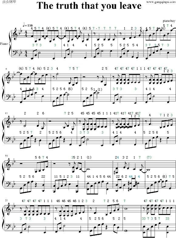 【帮助】五线谱转简谱_钢琴谱吧_百度贴吧图片