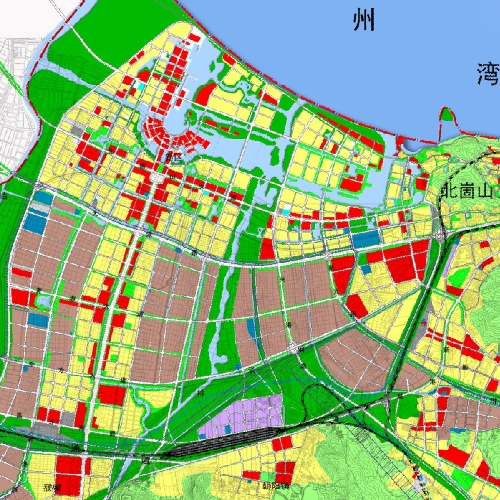 这是2030年及以后的连云新城土地利用规划图.全部建成,我高清图片