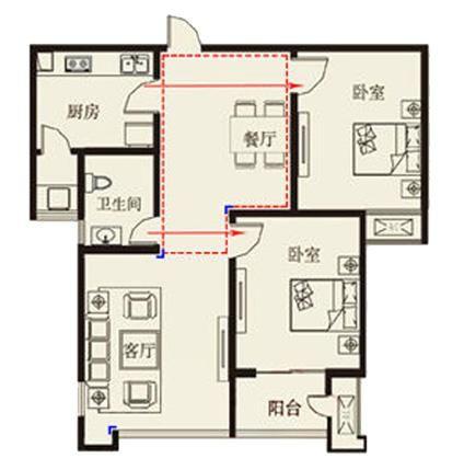 原始户型缺陷分析1.入门 入户直冲客厅窗户,住宅大门与窗户高清图片