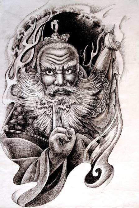 神话人物.不做伸手党_纹身吧图片