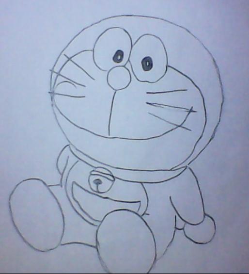 叮当猫 程序员简笔画 叮当猫简笔画 程立雪简笔画 叮当猫简笔画图