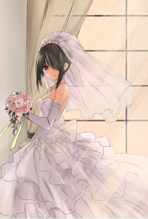 狂三的婚纱照
