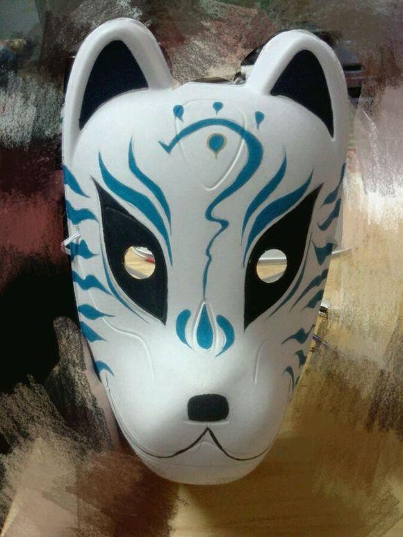 手绘狐狸面具,勿喷