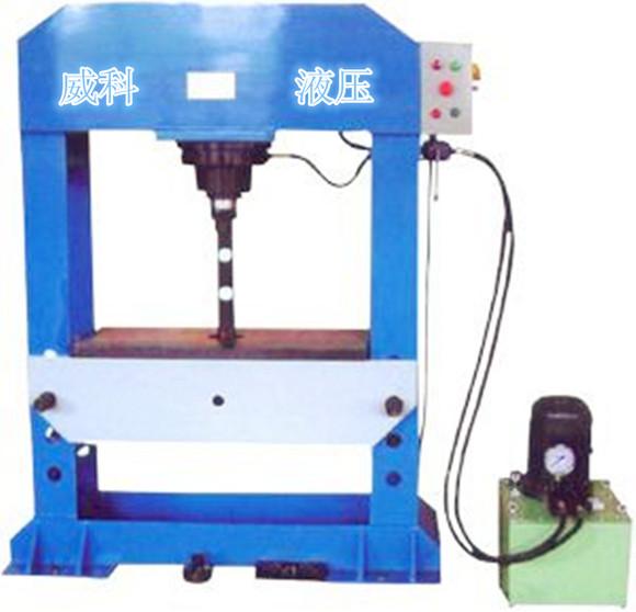 龙门液压机采用全钢性结构图片