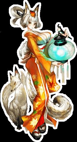 绀菊日本 伏见 地区之妖狐.经过千年修炼,得以幻化人形.高清图片