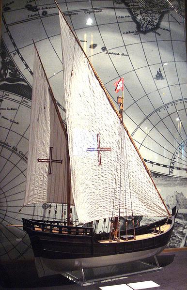 盛行于15世纪的卡拉维尔帆船,在大航海时代常被用作远洋图片