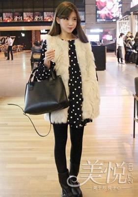 甜美女生冬季时尚服装搭配技巧