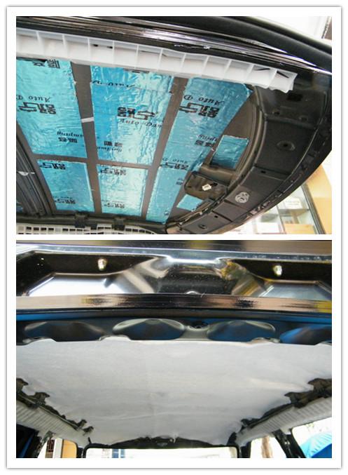佛山曼波汽车音响之铃木雨燕再次改装车顶隔音加包皮高清图片