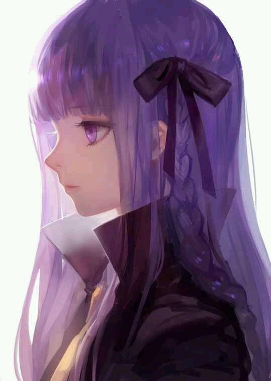动漫紫发冷酷美少女动漫蓝色冷酷美少女 动态动漫美少女图片