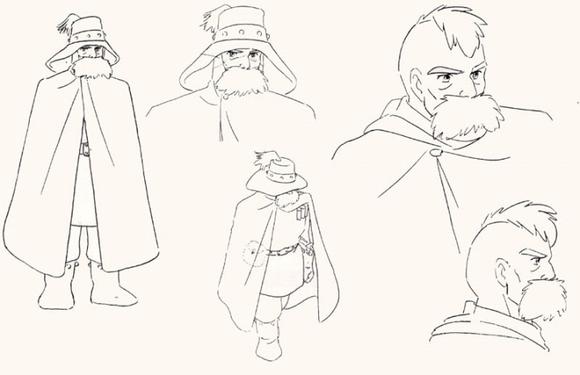 【图片素材】宫崎骏动画大全线稿图片