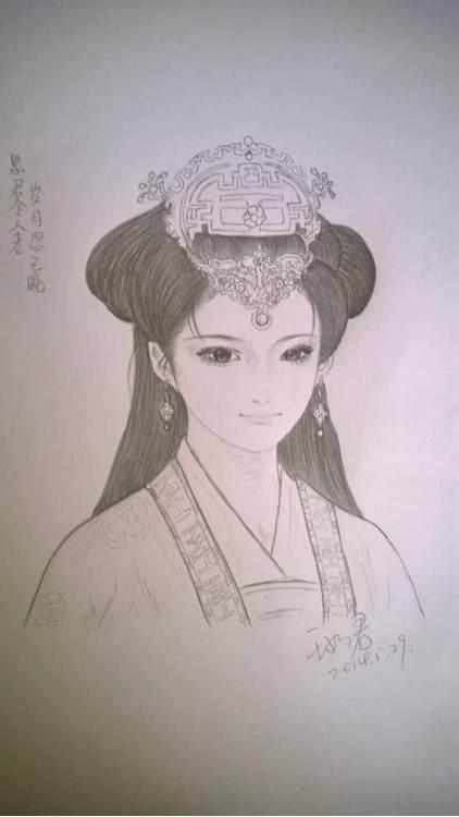 清朝皇后手绘图片_手绘大清美女图乱入~