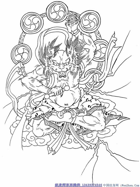 【几张素材:看看日式纹身中的中国(神话)人物】图片