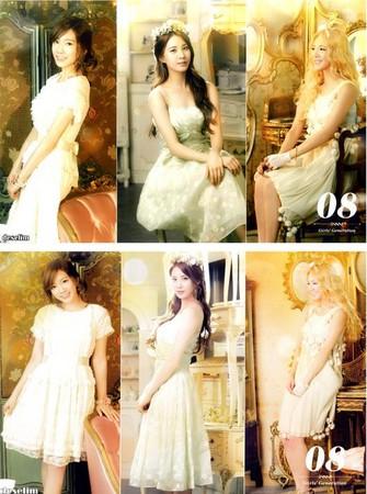 少女时代身穿粉嫩色礼服拍摄2013年年历美照