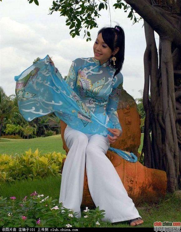 越南蓝衣女人 高山美女们