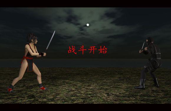 女忍者决斗被ko