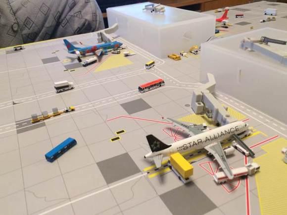 场景模型:高大上的飞机场小比例模型
