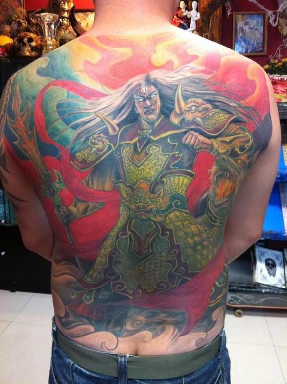 求二郎神杨戬纹身图图片