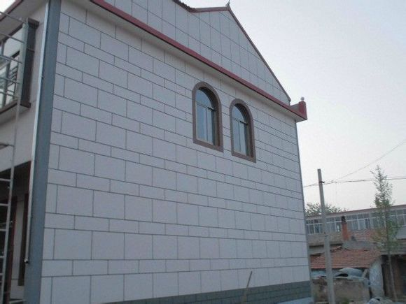 农村房屋外墙真石漆 喷砂 效果图 赣马吧 百度贴吧 高清图片