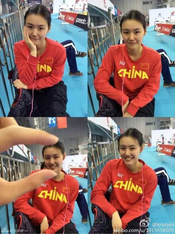 中国游泳队美女刘湘惊艳亮相