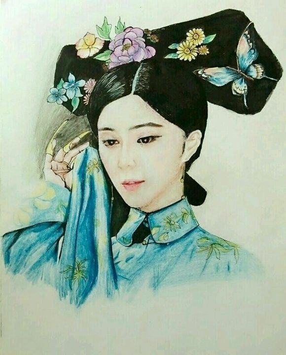 【彩铅】手绘古装人物――美女