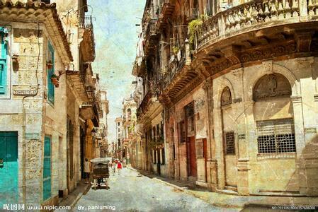 图】欧式复古街道图片