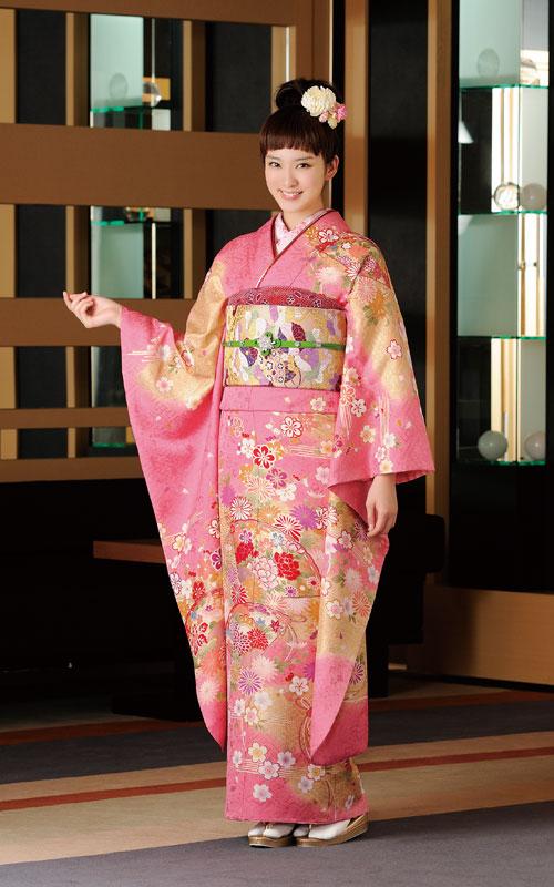 日本女艺人的和服写真照