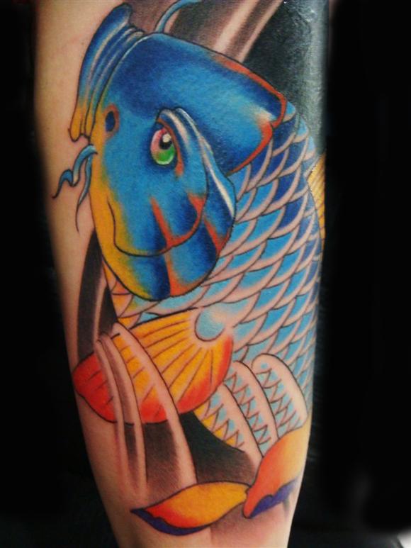 小老弟下月脱白 求招财鱼图片 纹小腿 谢谢大神们 纹身吧 高清图片