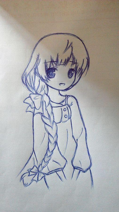 【作品】今天上课刚画的一幅画图片