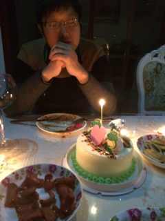 在家给老公过生日图片