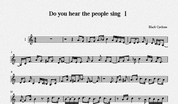 【五线谱】do you hear图片