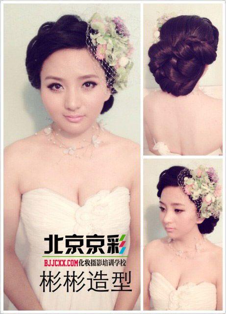 针对影楼新娘盘发,晚礼造型 (461x640)-新娘 写真 古装造型