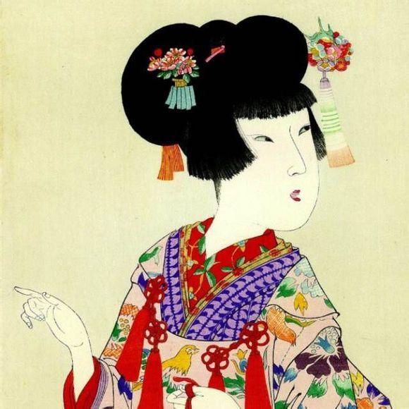 日本古代女子图