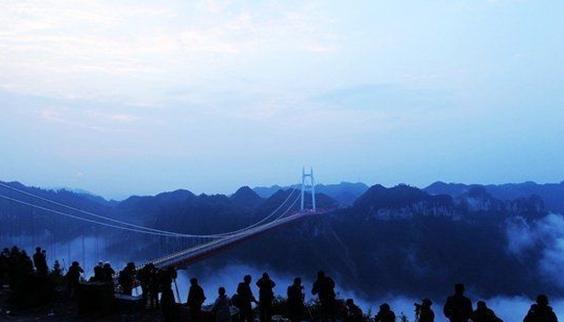 """湖南/吉首矮寨/特大悬索桥上发生""""鬼结婚""""_杨凌吧 ..."""