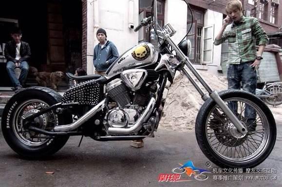 【收车】400cc改装复古太子图片