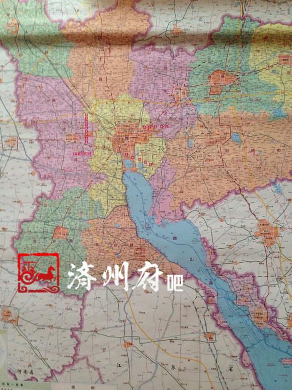 2014新版济宁全市地图,区划信息全部更新
