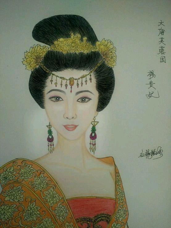 【彩铅画】古装美女