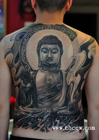 地藏王 菩萨纹身手稿图片
