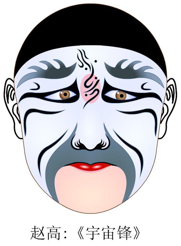 京剧脸谱矢量图3图片