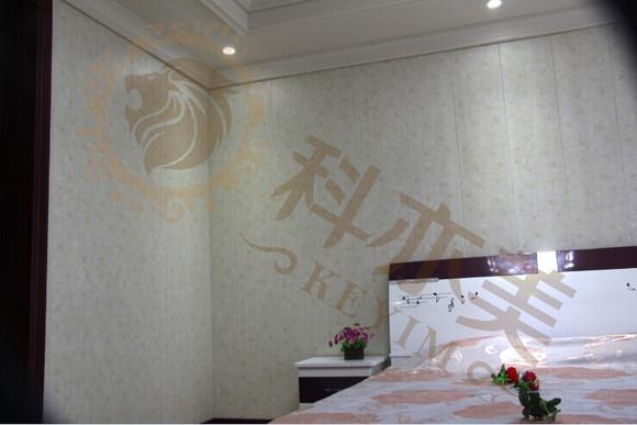 科亦美多彩集成墙饰系统将环保材料纤维板与高分子膜采用高清图片